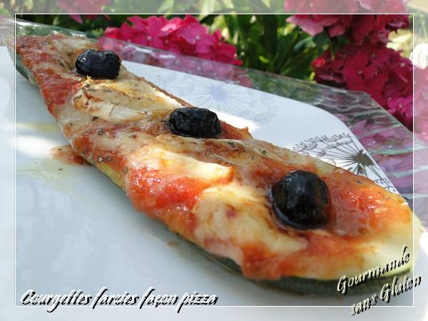 Courgettes farcies façon pizza sans gluten