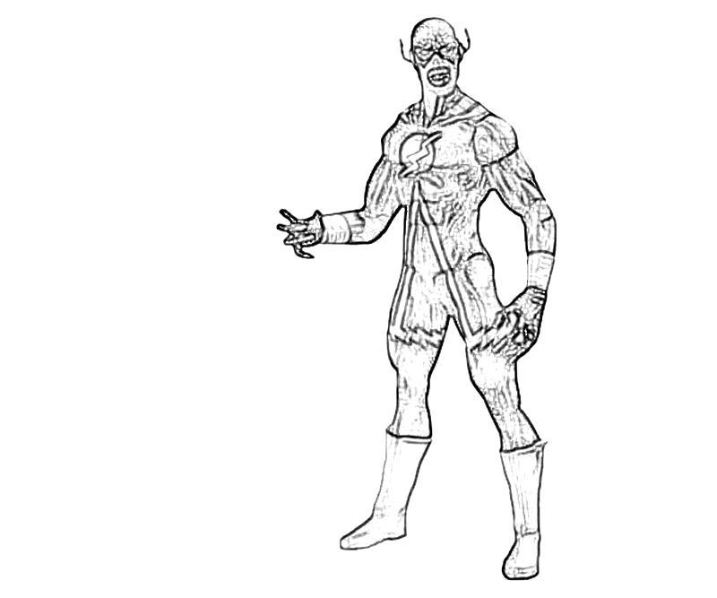 Printable Black Flash Action Coloring Pages