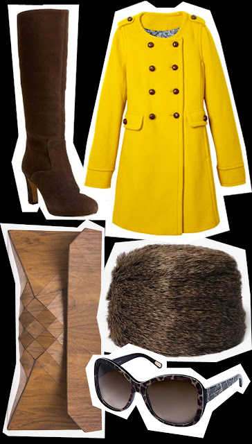 GET THE LOOK Pippa Middleton in bright yellow Katerine Hooker coat