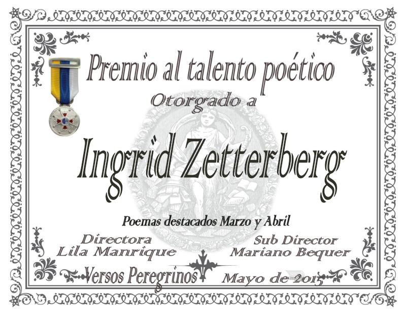 Diplomas...Premio al talento poético