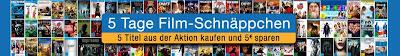 5 Tage Filmschnäppchen-Aktion bei Amazon: 5 Euro zusätzlich sparen bei vergünstigten Blu-rays/DVDs