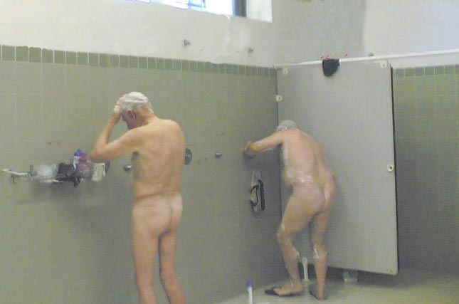 Mature men in the shower will love