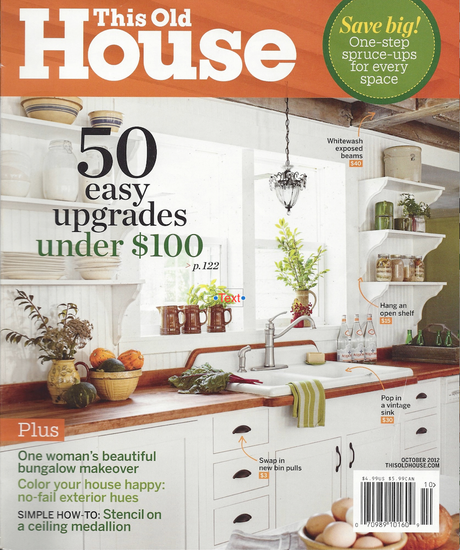See This Old House article Oct 2012
