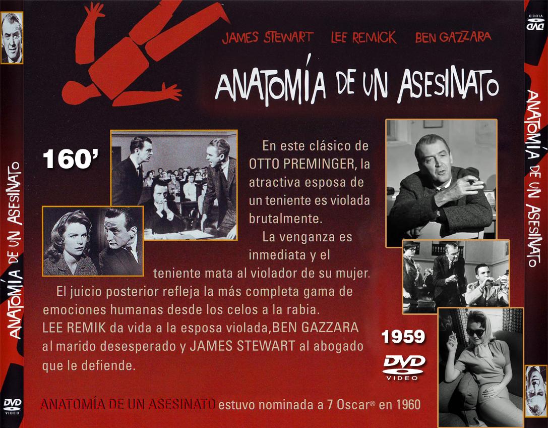 Caratulas de películas DVD para cajas CD: Anatomía de un asesinato ...