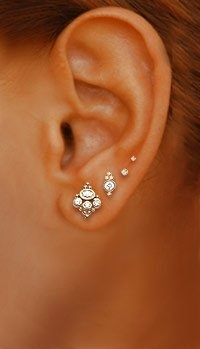 Silver Ear tops for ladies
