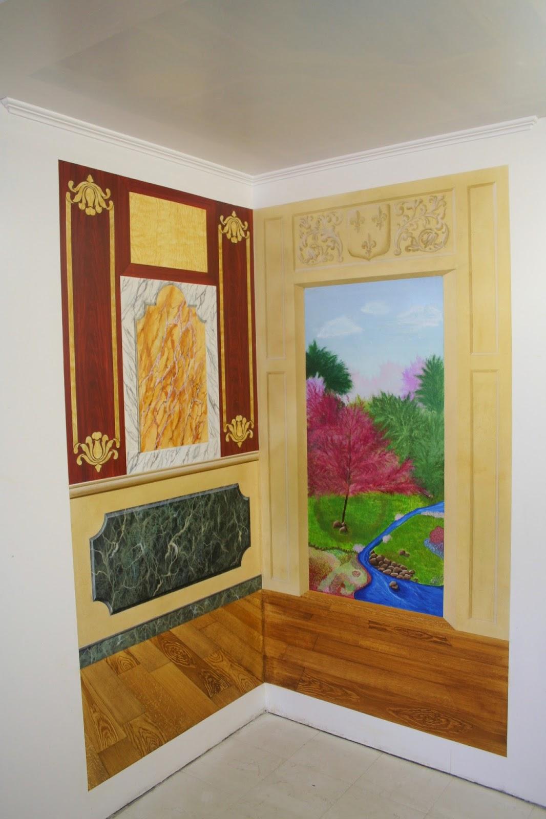 Calabro d co partie trompe l 39 oeil peinture - Trompe l oeil peinture ...