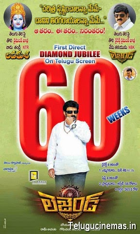 Legend Posters,Legend 60 weeks wallpapers,Legend 60 Weeks images,Legend 60 Weeks Stills,Telugucinemas.in