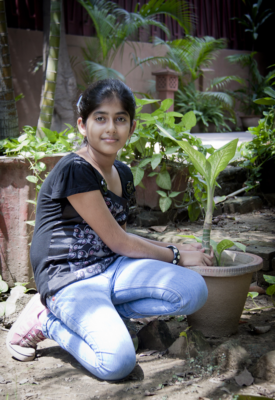 She is Anisha Berry and great nature lover. Although I am not sure if plantation is her main passion or not, but she had a nice garden at her home and love to take care of her plants. She believes in applying her education in life and do things practically. She has learned a lot about Go Green n related stuff, but she wanted to apply that... I had a quick chat with her and she is really a sweet girl who thinks lot about our nature and environment. It feels really great after meeting such kids who have real passion for nature and also applying all good morals in life... Kudos to Anisha and hope other children will learn from her !!!