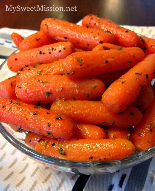 Maple Glazed Carrots by MySweetMission.net