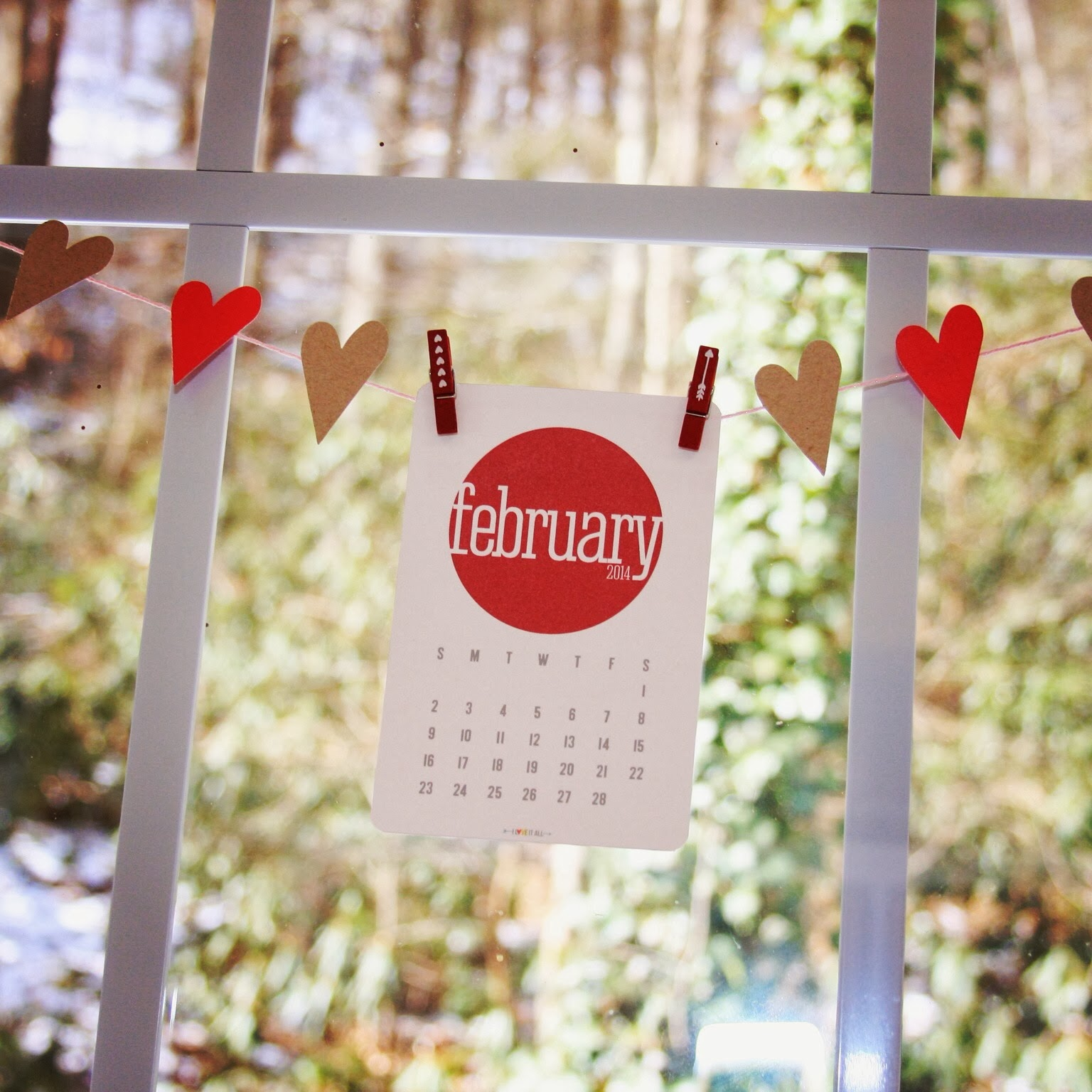 February Calendar Cutie | iloveitallwithmonikawright.com