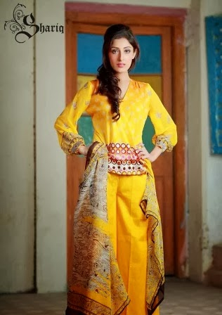 Beautiful Yellow Lawn Suits Dress Designs