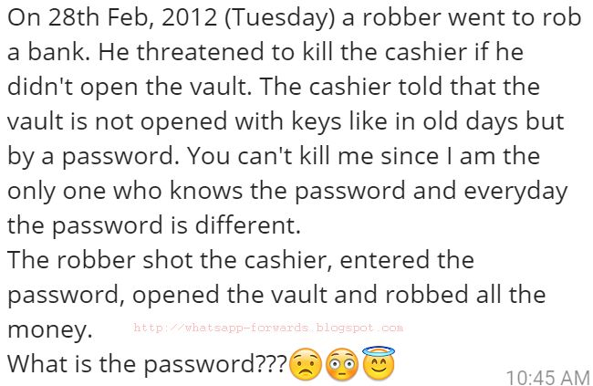 A Robber Went to rob a bank