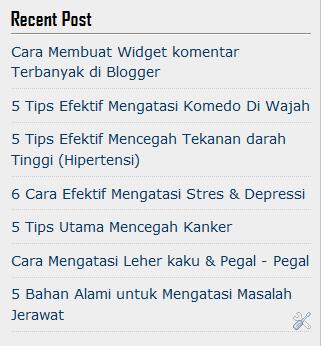 membuat widget recent post di blog