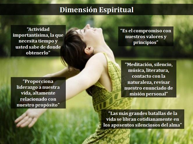 Los Siete Hábitos: AFILAR LA SIERRA: DIMENSIÓN ESPIRITUAL