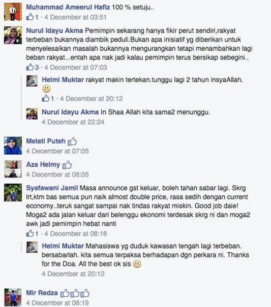 Luahan sentap mahasiswa buat menteri Malaysia