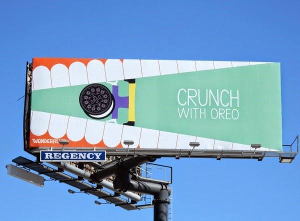 Crunch with Oreo Wonderfilled billboard
