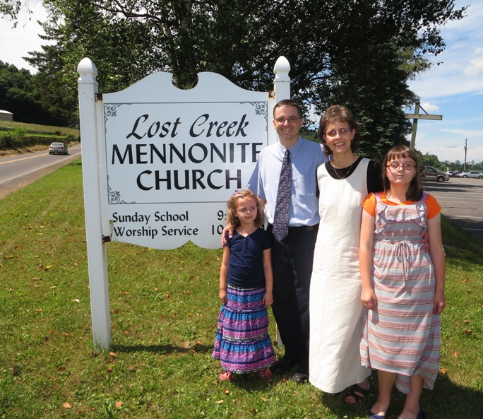 Pastor Sherman Stoltzfus and family