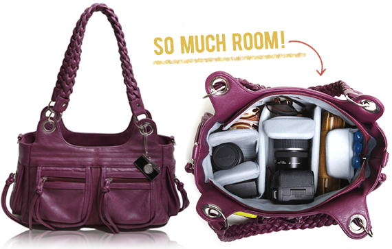 Epiphanie Stella Shoulder Camera Bag Plum 73
