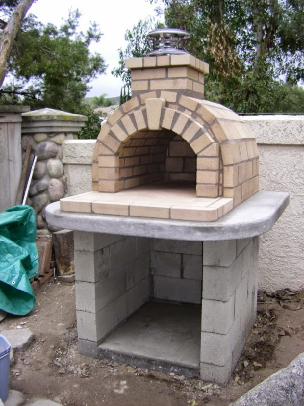 Brickwood ovens schlentz tan wood fired brick pizza oven by brickwood ovens - Outdoor kitchen designs with pizza oven ...