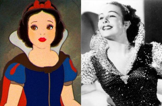 Os personagens da Disney na vida real - Branca de Neve – Marge Champion