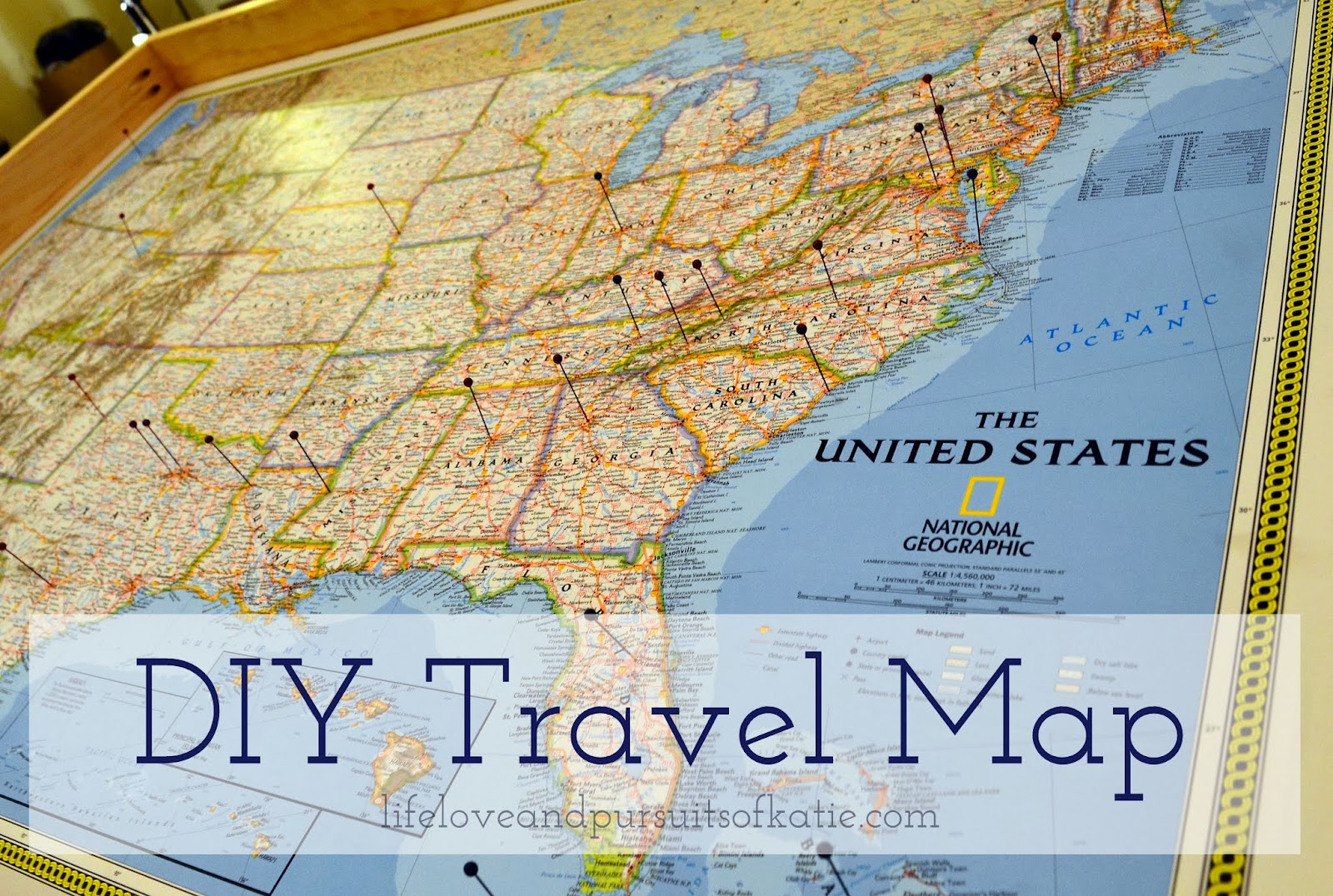 I Am Katie DIY Travel Map – My Travels Map
