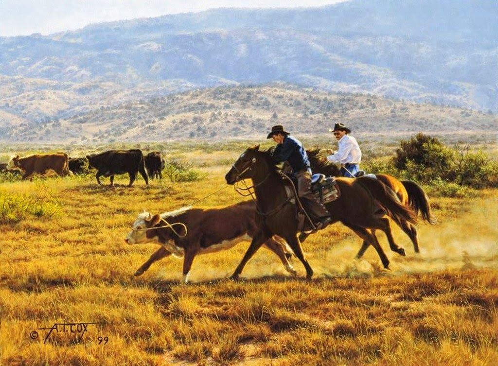 Im genes arte pinturas hermosos paisajes con caballos y - Cuadros de vacas ...