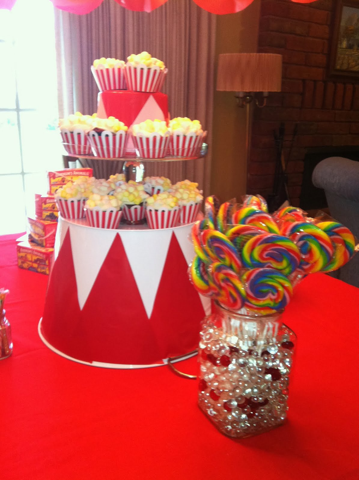 bobbins and boys circus baby shower