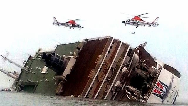 World Wide Breaking News Of South Korea Ferry Sinking Collapsed into Ocean