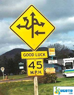 funny road sign in America