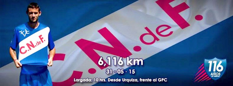 6.116 mts del Club Nacional de Fútbol (31/may/2015)