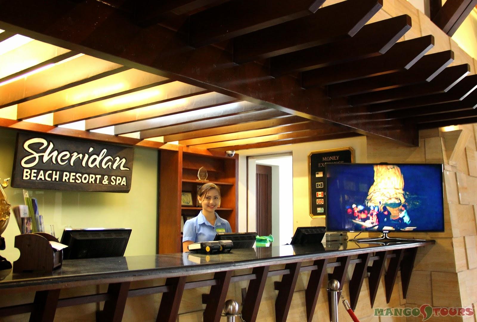 Mango Tours Puerto Princesa Palawan Sheridan Beach Resort & Spa Front Desk Philippines