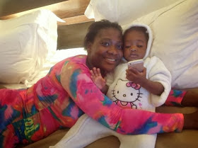 Mercy Johnson and daughter, Purity