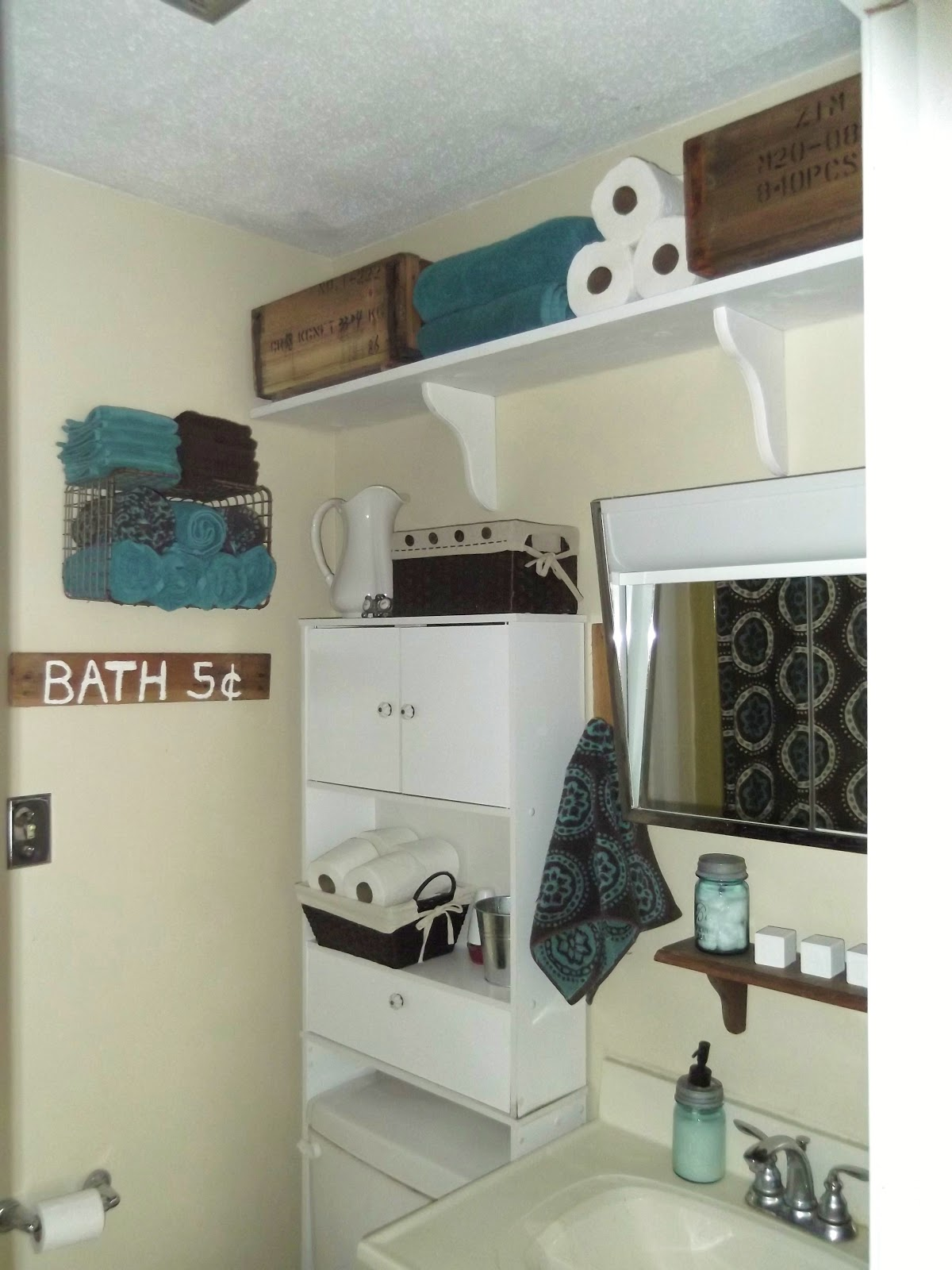 thrifty 31 blog a new bathroom shelf some kitchen redecorating