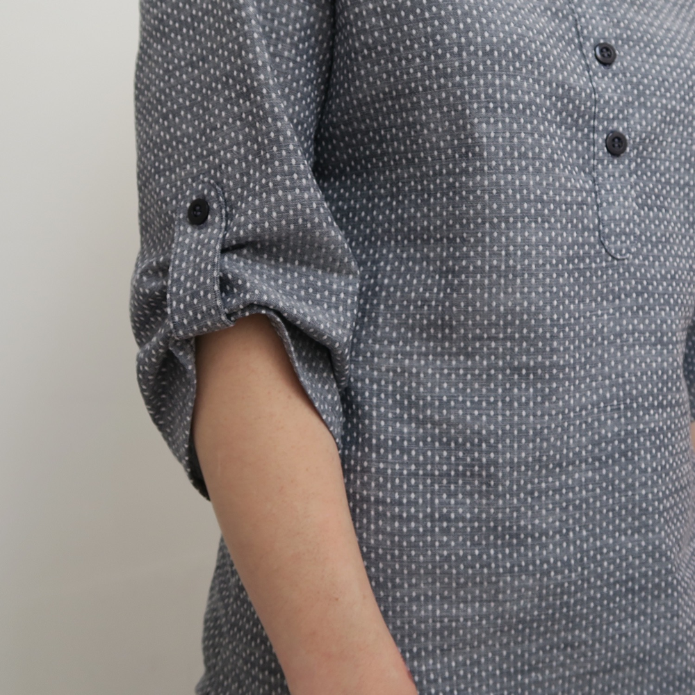 Indigo Dot Shirt