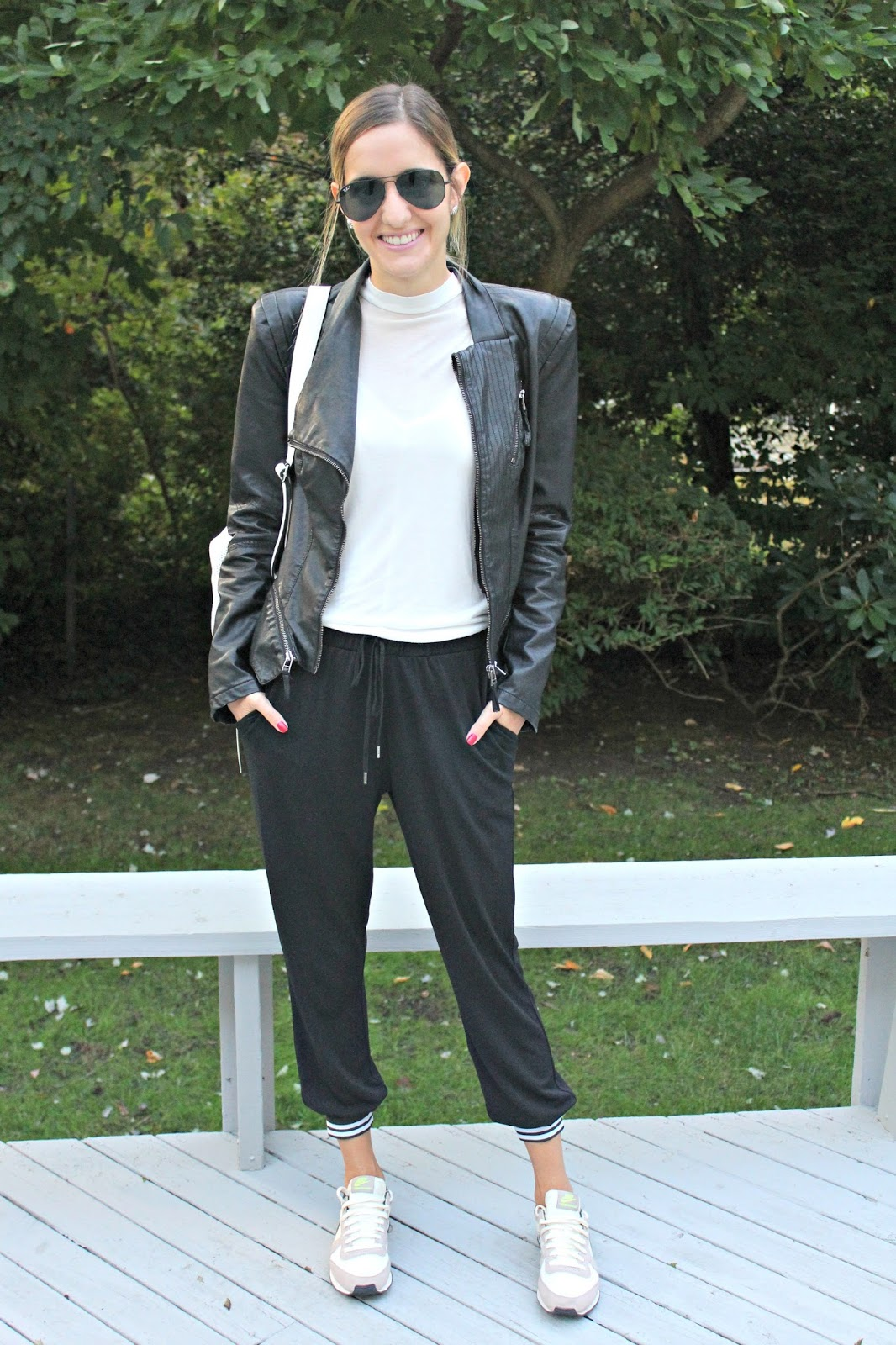 sporty jumpsuit look