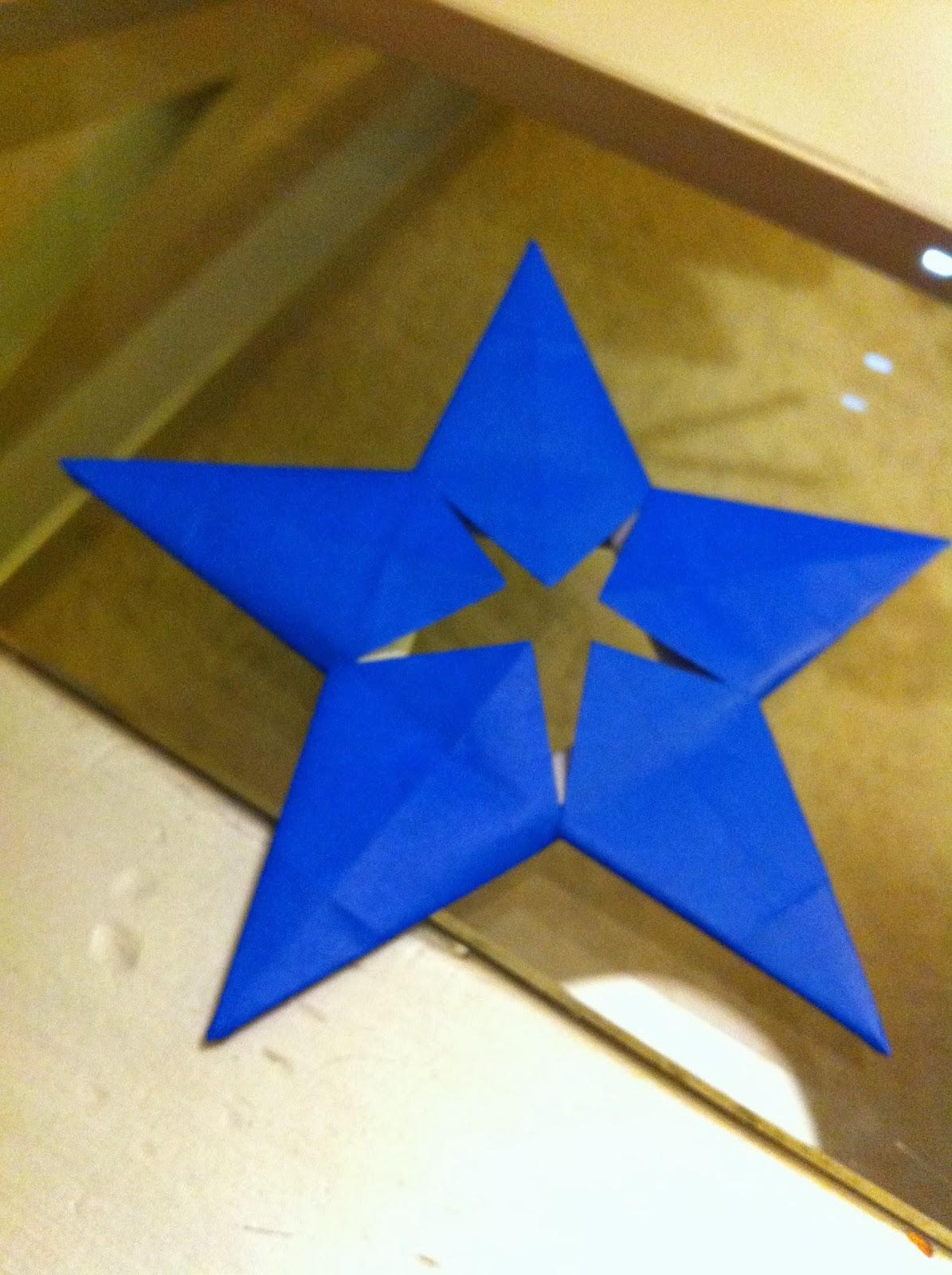 Mariposas de origami estrellas de navidad - Origami de una estrella ...