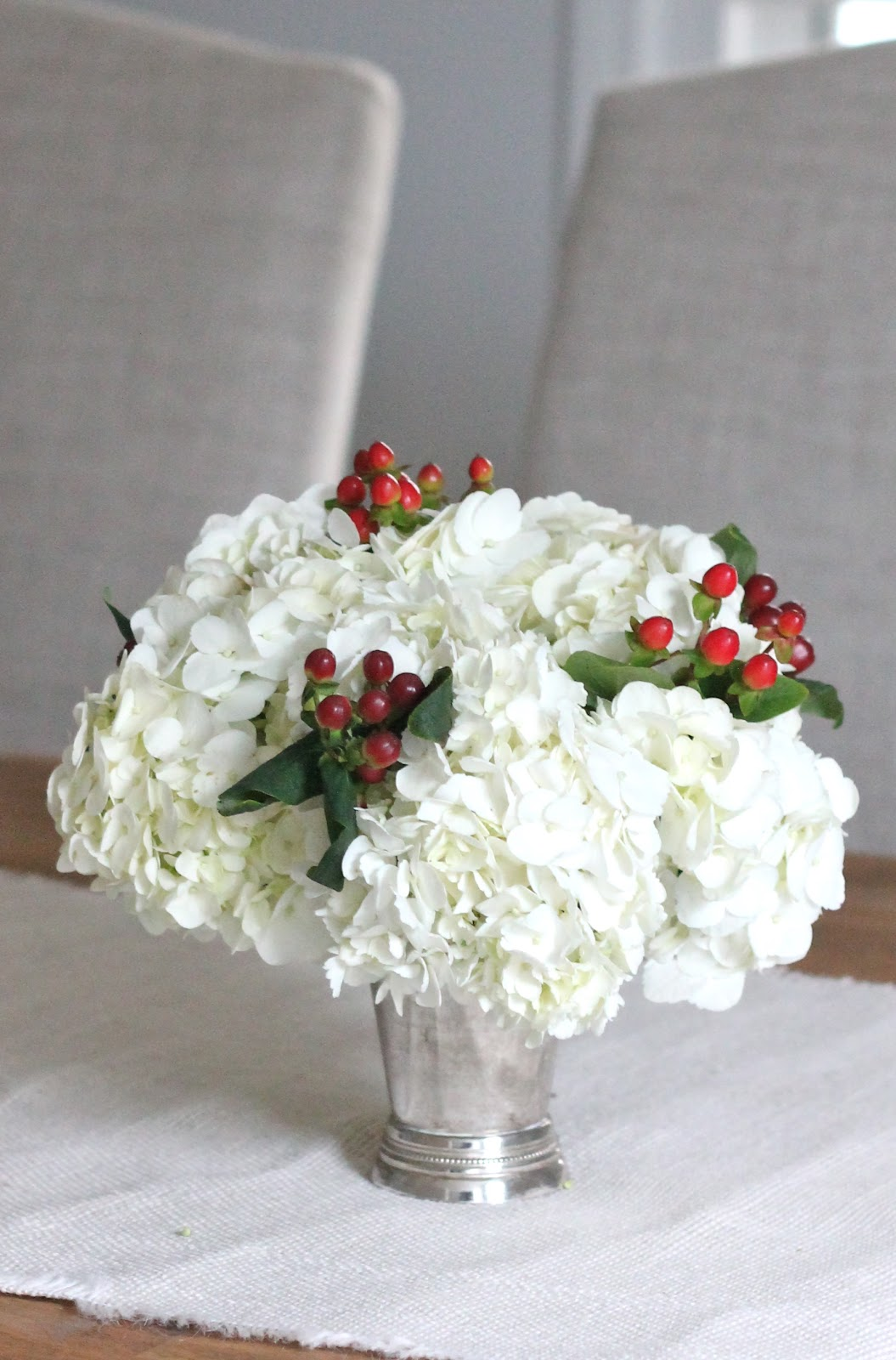 Christmas centerpiece julie blanner White christmas centerpieces
