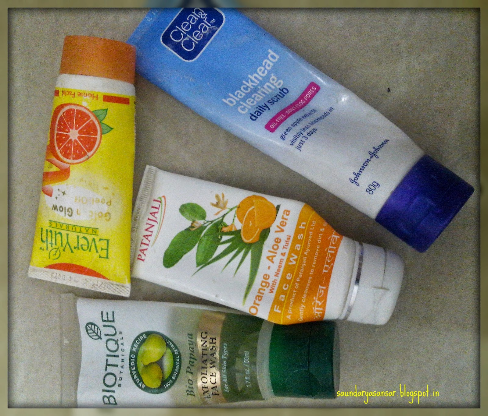 Empties-Biotique-Patanjali-Everyuth-Clean-&-Clear