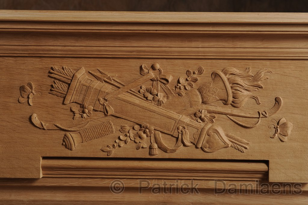Ornamental woodcarver patrick damiaens wooden mantelpiece