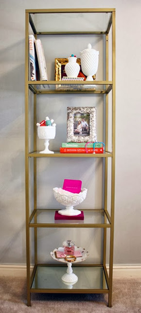 Life at 818 beautiful gold shelf unit another spray for Shelf life of paint