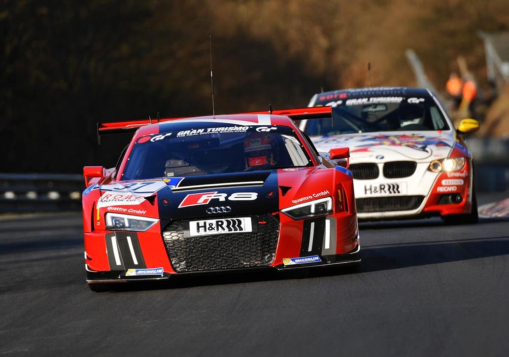 vln strong audi entries at the n rburgring for round 2. Black Bedroom Furniture Sets. Home Design Ideas