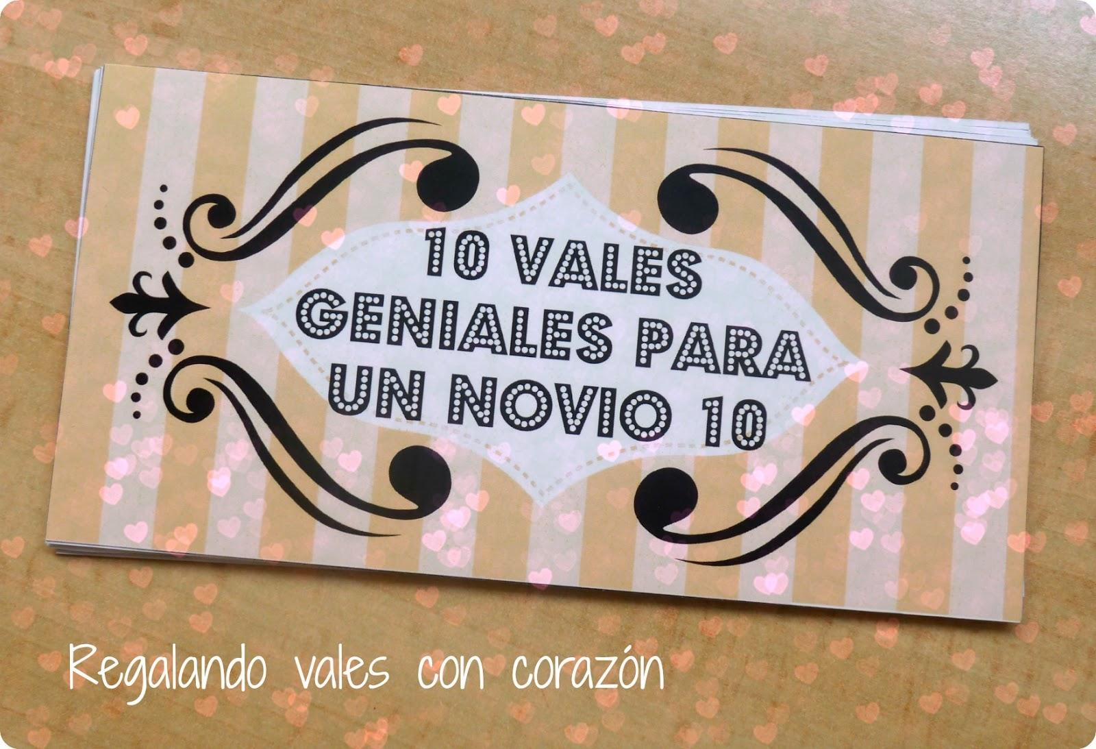 Mi mundo de baldosas amarillas: 10 vales geniales para un novio 10 (DIY)