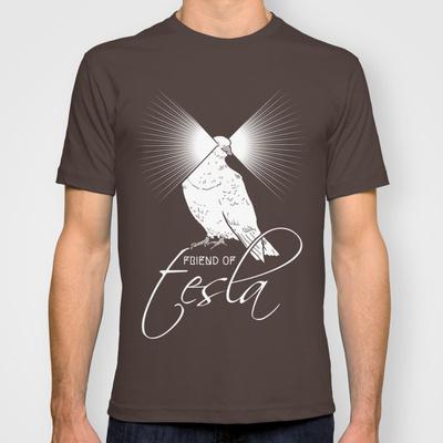 Teslas pigeon t shirt