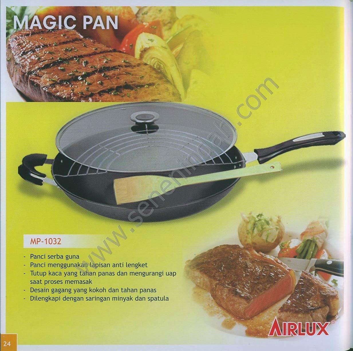 Airlux Magic Pan Mp 1032 Aluminium Black Daftar Harga Terbaik Carbon Steel Cookware Bc 8105 Hijau Senen Indah