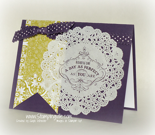 Birthday card with Vintage Verses stamp set by Stampin' Up!