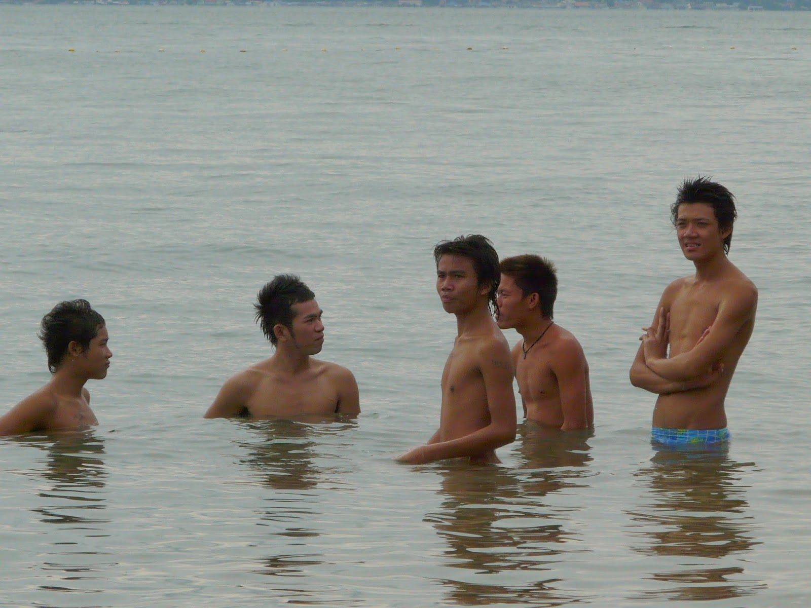 Beach boys on Jomtien gay beach, Pattaya