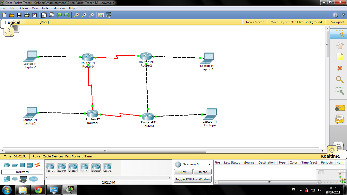 Configuring Dinamis Routing Using OSPF Route in Packet Tracer