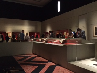 Pic of cases in which medieval documents displayed in optimum conditions and dark
