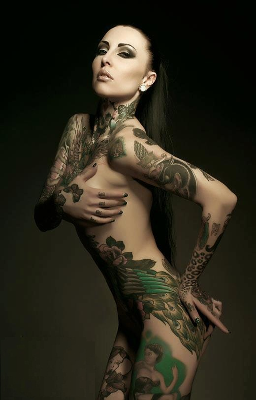 Waist Peacock Tattoo