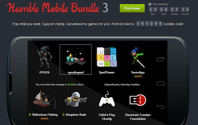 4 juegos para Android por solo un céntimo de dólar.